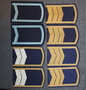 Soviet shoulder boards, blue base color.