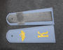 Aeroflot / CCCP Civil aviation shoulder boards, light gray. K