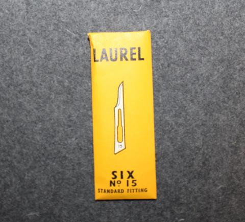 Kirurgin veitsen teriä, 6kpl paketti, Laurel Sheffield.