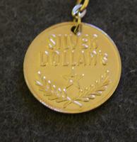 Silver Dollar's fob / keychain, 1970's, genuine.