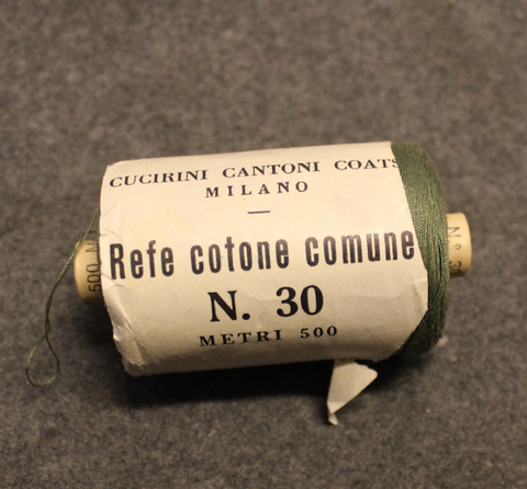 Italian army cotton thread no:30, 500m roll