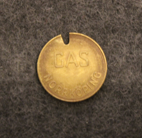 Norrköpings Gasverk, gas token. 1958. LAST IN STOCK