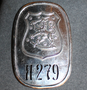 Finnish Police, Badge, Tavastia ( Häme ) no: 279