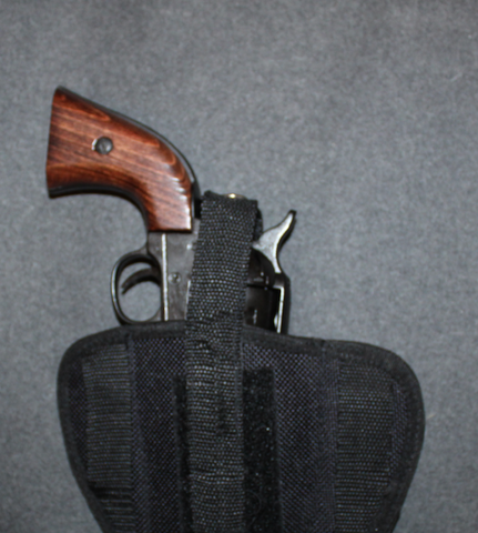 Pistooli / revolverikotelo, cordura, pancake, 50mm vyölle.