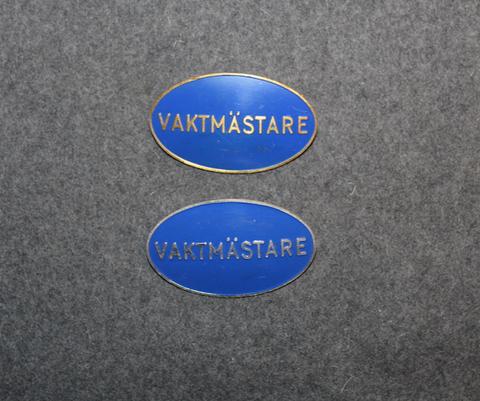 Vaktmästare, 1st tai 2nd class. Custodian / security.