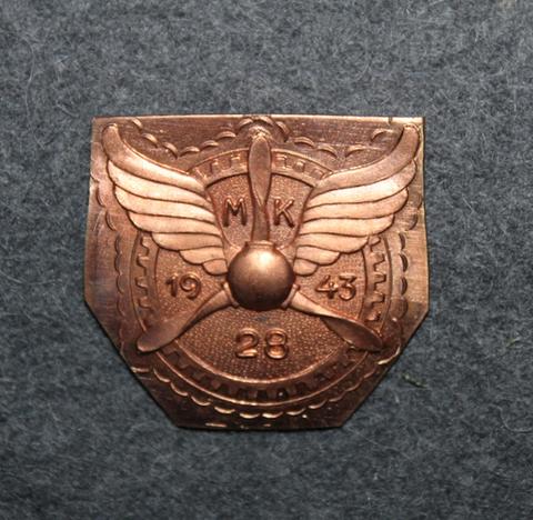 MK28 1943,  Finnish Airforce, aviation mechanic school badge base plate.