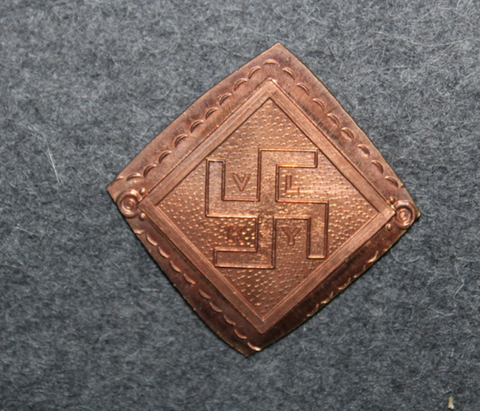 VLKY, Finnish Airforce badge base plate.