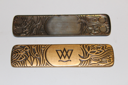 W name tag cover