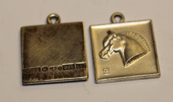 SB ( horse ) pendant, 925 silver
