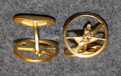Akademiska Roddklubben ( rowing klub ) cufflink
