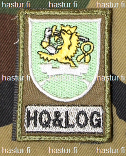 Finnish KFOR ( kosovo force ) patch HQ & LOG / HQ / R-COY / MN LOG COY