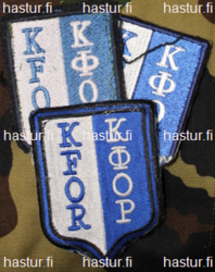Finnish KFOR ( kosovo force ) patch