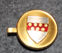 Danish coat of arms ( municipality? ) cap badge / pin