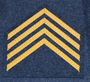 Finnish air force rank patch, staff sergeant
