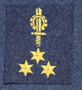 Finnish air force rank patch, MCS 3rd class, engineer specialist