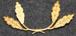Danish Customs ( toldvæsenet ) oakleaf wreath for cap badge. 2 leaves