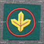 Finnish army patch, national defence academy.