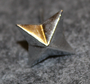 Danish rank insignia ( gradstegn ), 4 pointed star, 15mm LAST IN STOCK