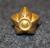 Tanskalainen arvomerkki, 5 sakarainen tähti, 15mm kulta