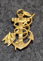 Danish insignia anchor and trident