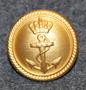 Tanskan kuninkaallinen laivasto, kullattu, 22mm