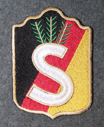 Finnish home guard shoulder sleeve patch: North Karelia 1940->