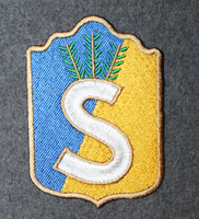 Finnish home guard shoulder sleeve patch: Helsinki