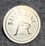 Silja Line, shipping company, silver-white, 23mm