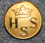 Helsingfors Segelsällskap, Helsinki yacht club, gilt, 15mm