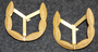 Finnish fire departments, shoulder insignia, pair