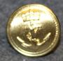 Norjan kuninkaallinen laivasto, 23mm, kullattu, lakkinappi