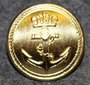 Sjøforsvaret, Royal Norwegian Navy, 23mm, Gilt, thin edge