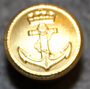 Sjøforsvaret, Royal Norwegian Navy, 15mm, Gilt, nut & bolt