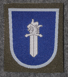 Finnish sleeve patch, military police M/91