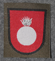 Finnish sleeve patch, artillery gunners, M/91