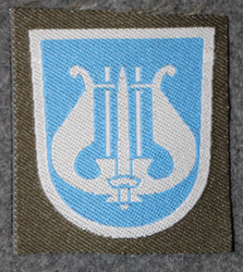 Finnish sleeve patch, music, M/91