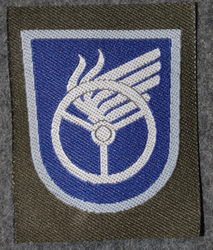 Finnish sleeve patch, vehicle operator, M/91