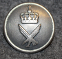 Luftforsvaret, norwegian air force, 23mm, grey, narrow crown