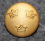 Ruotsin armeija, kolme kruunua, 15mm, kullattu
