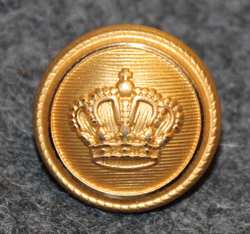 Danish crown 15mm, gilt