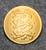 Tanskan vaakuna, kullattu, 22mm