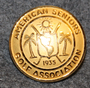 American seniors golf association. ASGA, 23mm, gilt