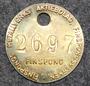 Finspong Metalverk, 24mm, brass, numeroitu