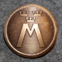 Motormännens Riksförbund. Autoliitto, 23mm, pronssi