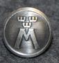 Motormännens Riksförbund. Autoliitto, 13,5mm, nikkeli / harmaa