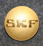 SKF, Svenska Kullagerfabriken AB, Swedish ball bearing factory, 23mm, gilt.