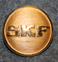 SKF, Svenska Kullagerfabriken AB, Swedish ball bearing factory, 22mm, gilt.