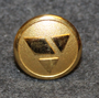 Danske Landmansbank, danish bank, 16mm, gilt, cap button