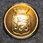 Uppsala kommun. Swedish municipality, 22mm, gilt
