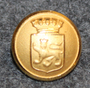 Uppsala kommun. Swedish municipality, 13mm, gilt, v2